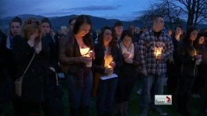 Vigil held to honour Rachel Pernosky