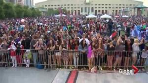 Mississauga Celebration Square lit up as hundreds celebrate Canada Day