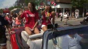 Olympians celebrated at Toronto parade