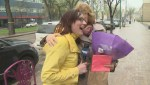 Global Winnipeg reporter surprises her mother with an early Mother's Day gift