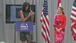 Michelle Obama calls Trudeau children 'delicious'
