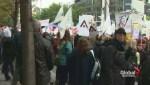 Quebec teachers demonstrate
