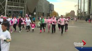 Run for the Cure makes its way through downtown Edmonton