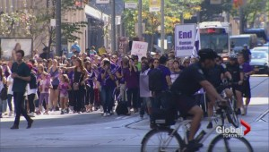 Hundreds took to the streets in two Ontario cities against human trafficking