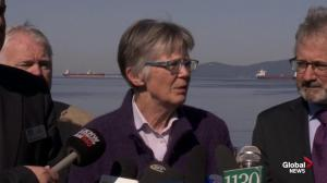 Cleanup in English Bay continues