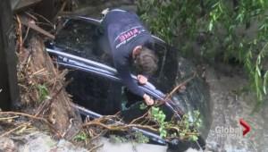 Floods and fires plague California