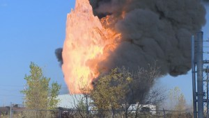 Speedway International fire fills sky over Winnipeg