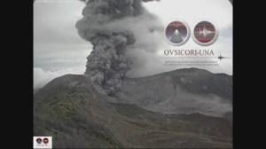 RAW: Turrialba volcano spews 2 km high plume in Costa Rica