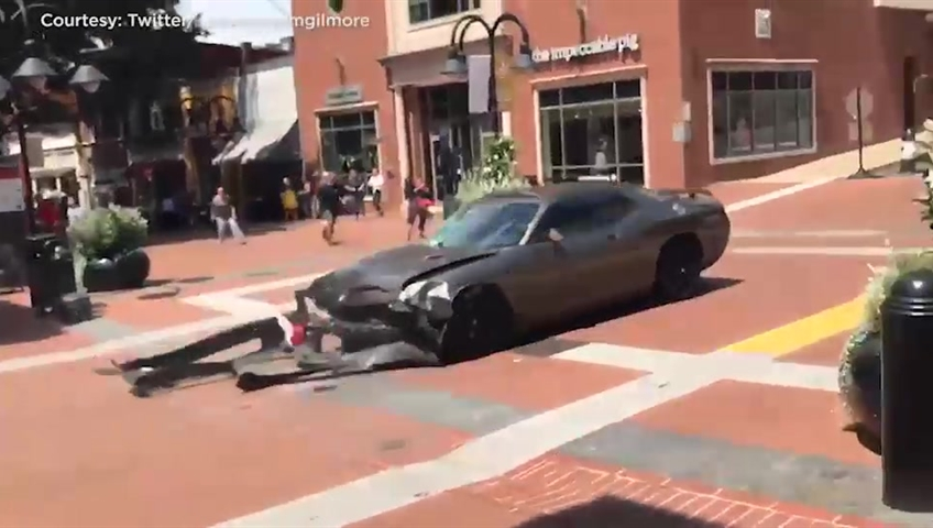 Car rams into crowd at nationalist rally in Virginia