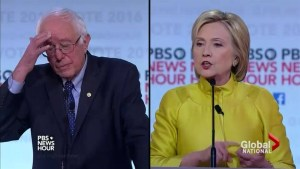 Clinton, Sanders face off in Democratic debate