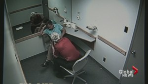 Newly released video shows police accusing Oland of killing father