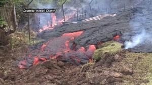 Homes threatened by lava on Hawaii's big island