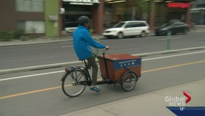 Downtown cycle track opens