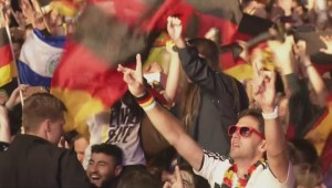 German fans react to World Cup victory