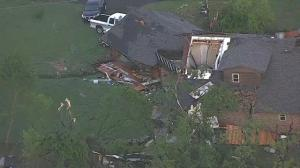 Aerial footage shows devastation in wake of tornadoes in Texas
