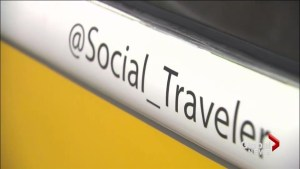 World traveller gets directions via social media