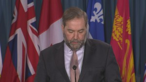 "Mulcair goes after Tories, Libs for terror bill that ""goes too far"""
