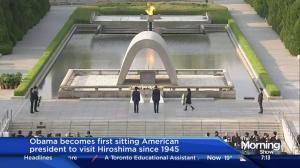 Obama becomes 1st sitting U.S. president to visit Hiroshima since WW2