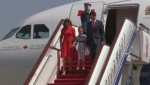 Prime Minister Justin Trudeau and family arrive in China