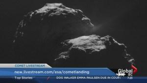 Comet probe makes a landing