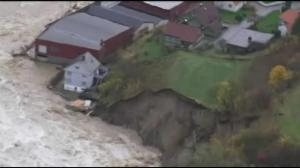 Raw video: Heavy flooding in Norway