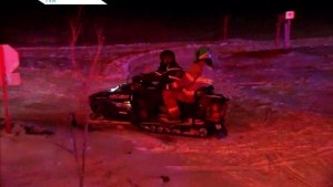 Snowmobilers rescued in the Laurentians