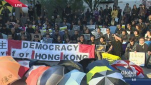 Chinese pro-democracy protest in Calgary