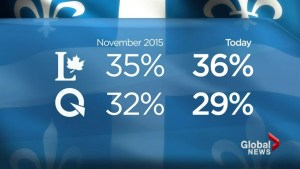 Liberals up, Premier down in polls