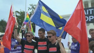 Same-sex marriage supporters celebrate historic Supreme Court ruling