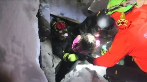 4 children and a woman rescued from Italy hotel after avalanche