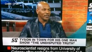Mike Tyson loses it on live Toronto news channel