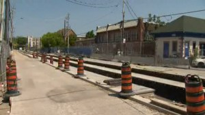 TTC streetcar track construction on Leslie Street delayed another 4-6 weeks