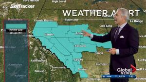 Edmonton early morning weather forecast: Wednesday, July 19, 2017