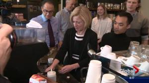 Premier Rachel Notley begins to sell budget to Albertans