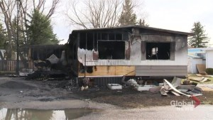 Fire destroys north Lethbridge mobile home
