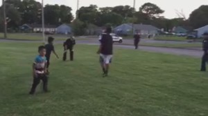 'Community policing at its finest': cops called on kids playing soccer, officers join game