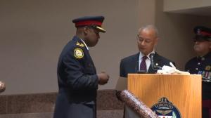 Saunders sworn in as the Chief of police
