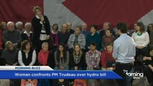 Ontario woman has a tearful exchange with PM