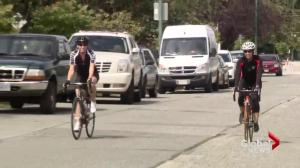 The City of Vancouver says rain is to blame for lower cyclist numbers