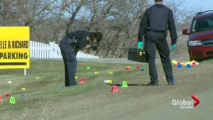 Shots fired after Sask. RCMP officer seriously injured in hit and run