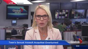 Teen's sex assault acquittal overturned