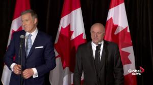 Maxime Bernier says it's a 'great day in Canada' amid O'Leary support