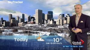 Edmonton early morning weather forecast: Wednesday, February 15, 2017