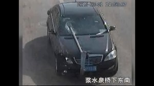 Police in China stop drunk driver with metal post planted through front windshield