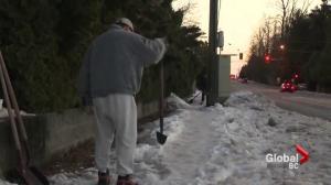 Surrey senior cited after being snowed in