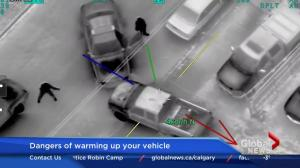 Police release dramatic helicopter footage of Calgary car thefts