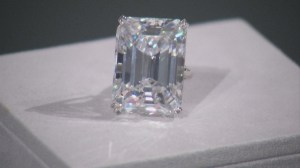 Rare 100-carat emerald cut diamond to go on auction at Sotheby's