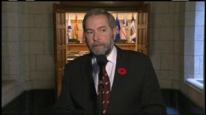 Mulcair won't label Ottawa attack an act of terror
