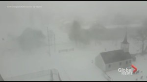 Raw video: winter storm shuts down parts of Halifax