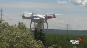 Pilot reports spotting drone while landing at Calgary airport